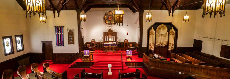 Interior panoramic view of the Sanctuary from the Balcony.